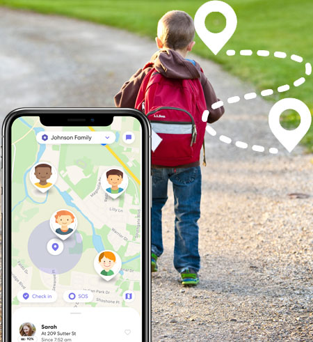 TheWiSpy Location tracking app main home header